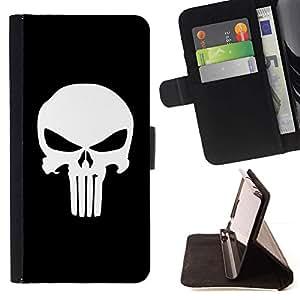 Momo Phone Case / Flip Funda de Cuero Case Cover - Cráneo oscuro lindo - Samsung Galaxy E5 E500