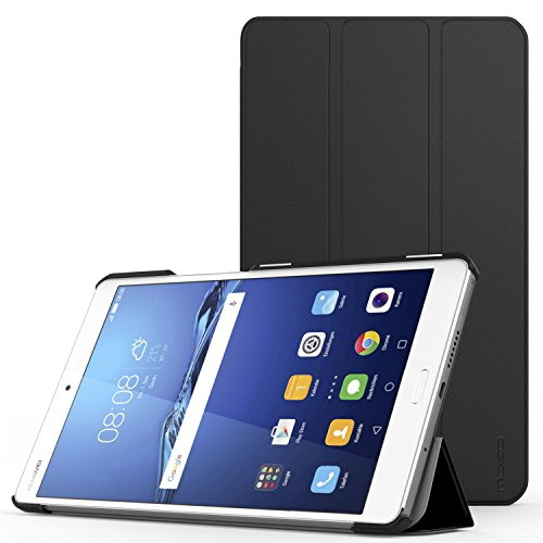 MoKo Huawei MediaPad M3 8.4 Case, Ultra Compact Slim Lightweight 3-Folding Standing Cover Case for M3 8.4 Inch Android Tablet 2016 Release - Black