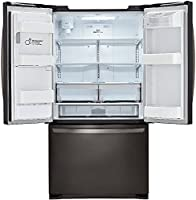 LG Stainless Steel 24 Cu. Ft. Ultra Capacity 3 Door French Door Refrigerator  With Dual Ice Makers, Black