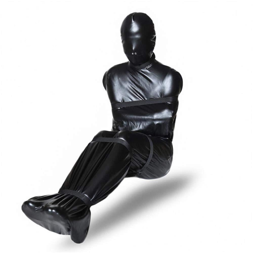 Ruthea Asphyxia Fetish Bondage Toys Nylon Restraints Bag Leather Cloth Adult Slave Game Products M/L,Size M
