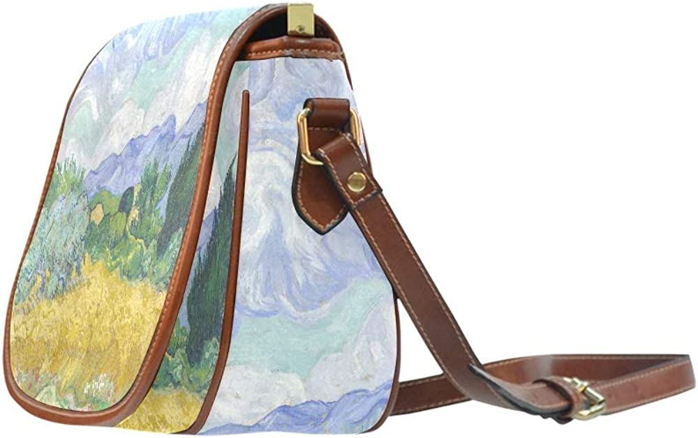 Wheat Field With Cypresses By Vincent Van Gogh Woman Shoulder Bag Flap With Magnetic Snap Printed Shoulder Bags Shoulder Saddle Bags