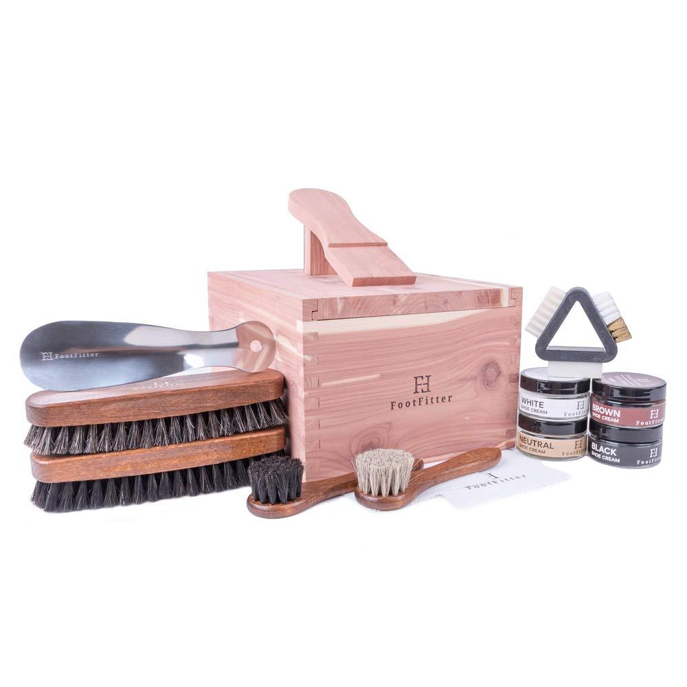 Juego de caja para valet FootFitter Shoe Shine Care - Kit de