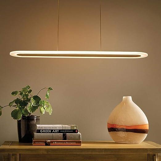 MRXUE Lámpara Colgante Morden LED Anillo de luz de Altura ...