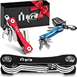 Smart Key Holder Keychain - Compact Key Holder & Premium Organizer/Women and Man Keychain/Lightweight Pocket Key Keeper up to 20 Keys with Stainless Steel Screws and Accessories (Black)