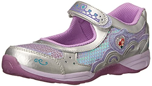 Stride Rite Disney WL Ariel MJ Athletic Shoe (Infant/Toddler/Little Kid),Silver/Lilac,10 M US Toddler