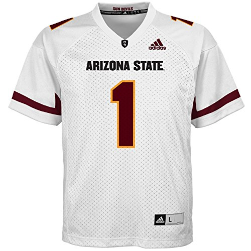 OuterStuff NCAA Arizona State Sun Devils Youth Boys Player Replica Fashion Football Jersey, Small (8), White