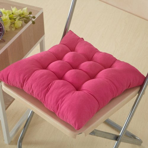 """Soft Polyester Chair Cushion / Pad - 15"""" x 15"""", Hot Pink"""