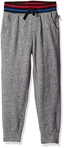 Splendid Little Boys' French Terry Active Pants, Charcoal Grey Heather, 5/6