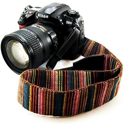 Wannabuy Camera Soft Bohemia Shoulder Neck Universal Camcorder Belt Strap Vintage Antislip Belt for All DSLR Camera Canon Nikon Sony Pentax Fujifilm Colorful (Camera Strap Vintage)