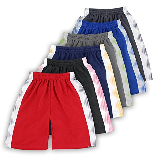 Cheap American Legend Mens Athletic Polyester Shorts - 6 Pack for cheap