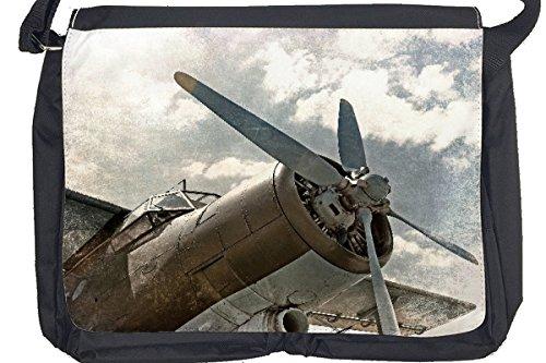 Borsa Tracolla Aeroporto Aereo Vecchia elica di aerei Stampato
