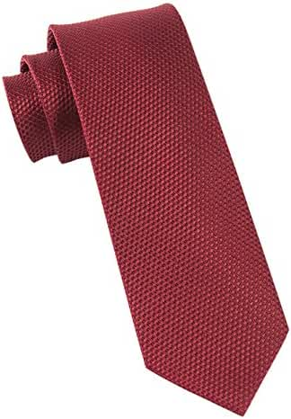 The Tie Bar 100% Woven Silk Burgundy Solid Textured 3 Inch Tie