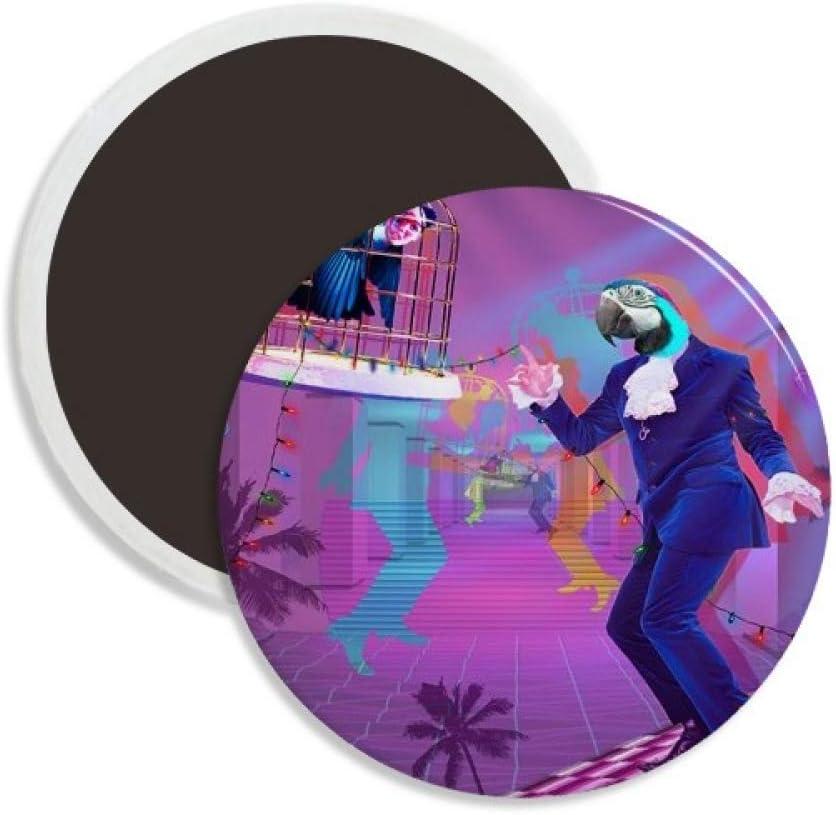 Dance DJ Fantasy Design Round Ceramics Fridge Magnet Keepsake Decoration
