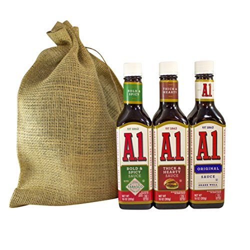 A1 Steak Sauce Deluxe Variety Pack Featuring Bold and Spicy Tabasco, Thick and Hearty, and Original (Steak Sauce Gift Set)