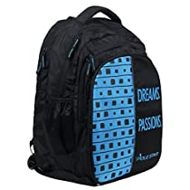 POLE STAR BIG4 Polyester 40L Black and Sky Blue Backpack