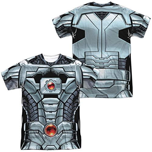 Cyborg- New 52 Costume Tee (Front/Back) T-Shirt Size M (Cyborg Costume Ideas)