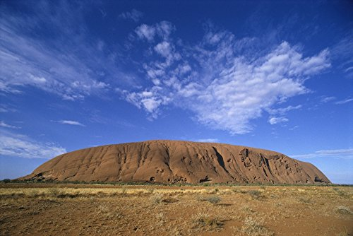 Posterazzi Australia Northern Territory Yulara Uluru-Kata Tjuta National Park Ayer's Rock Dramatic Skies. Poster Print, (19 x 12)