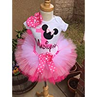 Minnie Mouse Birthday Outfit Tutu Set Dress Shirt ANY AGE in Pink Baby Light Pink and White