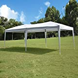 10'x20' Pop up Canopy Tent, Outdoor Canopy Tent, Waterproof Gazebo Portable Wedding Party Tent Carrying Case/Bag, Adjustable Folding Gazebo Pavilion Patio Shelter Without Sidewalls, Heavy Duty...