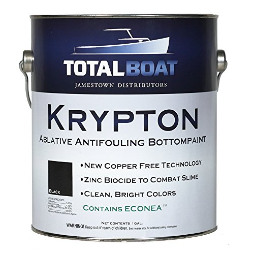 TotalBoat Krypton Bottom Paint (Black, Gallon) (Best Paint To Use On Aluminum Boat)