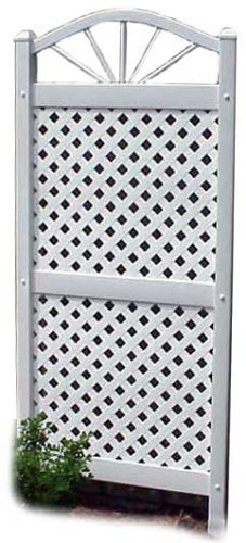 Sunburst Lattice Trellis - Duratrel Model 11148 White Sunburst Lattice Trellis