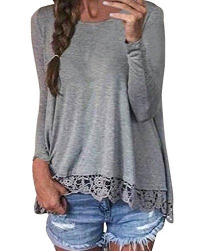 Yieune - Camisas - para mujer gris