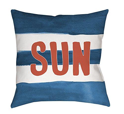 Thumbprintz Square Throw Pillow, 14-Inch, Sun