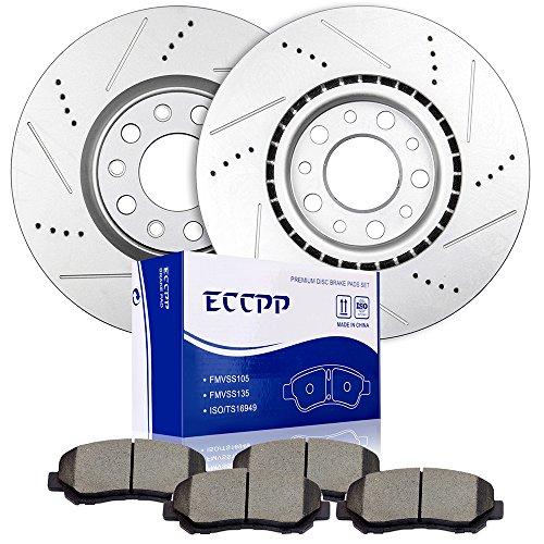 Brake Rotors Brakes Pads Kits,ECCPP 2pcs Front Discs Brake Rotors and 4pcs Ceramic Disc Brake Pads Set for 2015 Chrysler 200,2013-2016 Dodge - Dodge Set Dart