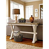 Universal Furniture 128816 Great Rooms Drop Leaf Console Table in Terrace Gray/Washed Linen Finish