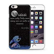 """iPhone 6/6s (4.7"""") Lilo & Stitch Silicone Phone Case / Gel Cover for Apple iPhone 6S 6 (4.7"""") / Screen Protector & Cloth / iCHOOSE / Quote - Moon"""