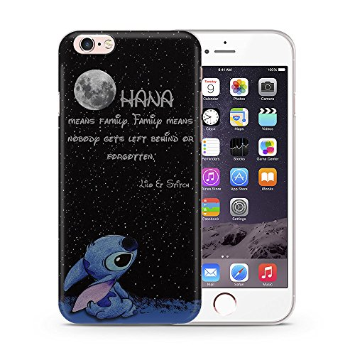 iPhone 5/5s Lilo & Stitch Silicone Phone Case / Gel Cover for Apple iPhone 5s 5 SE / Screen Protector & Cloth / iCHOOSE / Quote - Moon