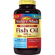 Nature Made Burpless Fish Oil 1200 mg with Omega-3 360 mg