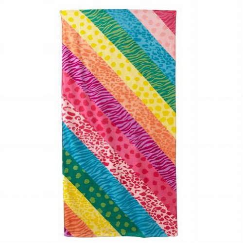 jumping-beans-colorful-animal-print-plush-cotton-beach-towel-30x60