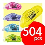 Fullmark Carton Series: Best Seller! Model D Correction Tapes, 504-count, assorted colors