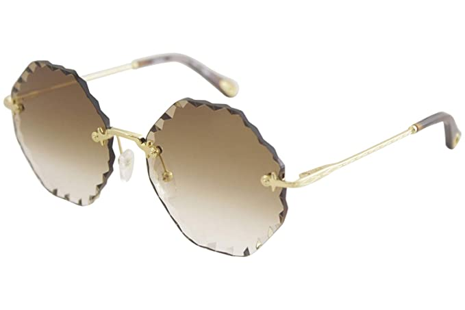 Gafas de Sol Chloé Rosie CE143S Gold/Brown Shaded Mujer ...