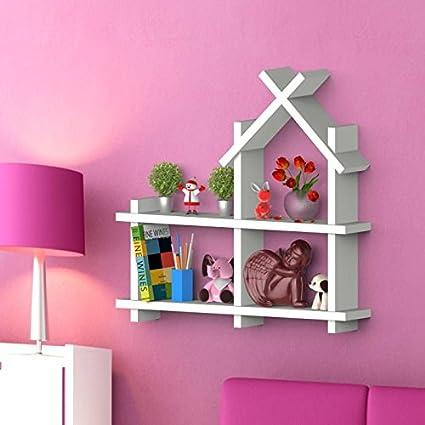 Hardika Furniture Wall Shelf Rack Hut Shaped Floating Shelves ...