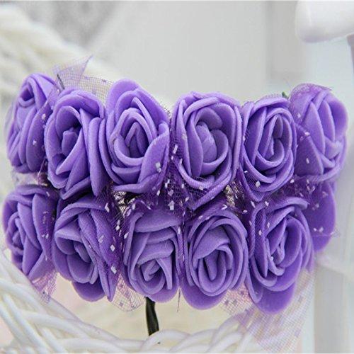 Artificial False Rose Silk Flowers 12 Flower Head Floral Wedding Garden Decor - 3
