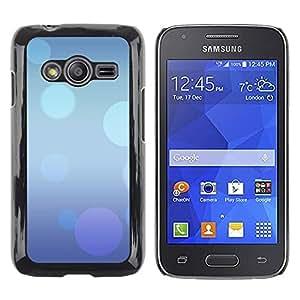 Be Good Phone Accessory // Dura Cáscara cubierta Protectora Caso Carcasa Funda de Protección para Samsung Galaxy Ace 4 G313 SM-G313F // Abstract Blue Purple Bubbles Pastel