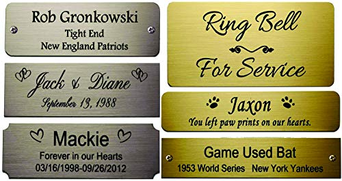 (Business Name Tag / ID Badge Personalized - Laser Engraved, Magnetic backing - copper or choose color and size)