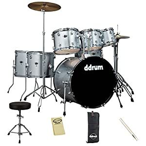 ddrum d2 7 piece complete drum set with throne cymbals stick depot drum heads survival guide. Black Bedroom Furniture Sets. Home Design Ideas
