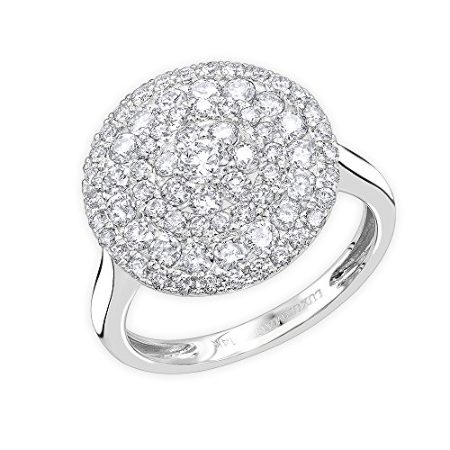Unique Right Hand Rings (Ladies Unique Right Hand Ring: 14k Gold Round Diamond Ring 1.5ctw (White Gold, Size 6.5))