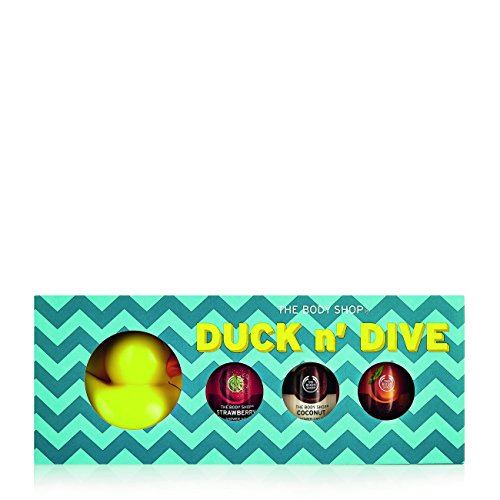 Body Gift (The Body Shop Duck 'n' Dive Body Wash Gift Set, 4pc Bath and Body Gift Set of Rubber Duck and Assorted Paraben-Free Shower Gels)