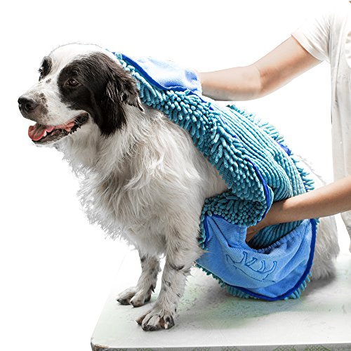 Tuff Pupper Large Dog Shammy Towel   Ultra Absorbent   Durable 35 x 15 Size for Dogs of All Breeds   Quick Drying Chenille Fabric   Designed for Indoor and Outdoor Use   Machine Washable