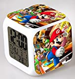 Enjoy Life : Cute Digital Multifunctional Alarm Clock With Glowing Led Lights and Super Mario sticker, Good Gift For Your Kids, Comes With Bonuses Part 1 (05)