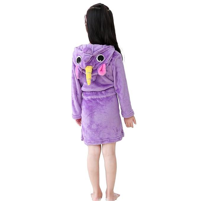 Kids Soft Bathrobe Unicorn Fleece Sleepwear Comfortable Loungewear Hooded  Sleep Robe Gift e58cf6881