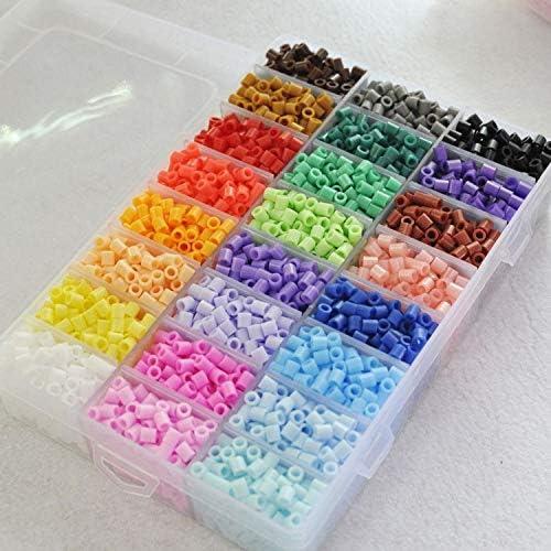 Dorime 5mm24 / Bricolaje 36 Colores Sistema de la Caja de Juguetes de Hama Beads PEGBOARD Accesorios EVA Perler Perlas de fusibles de niños Rompecabezas para la Educación: Amazon.es: Hogar