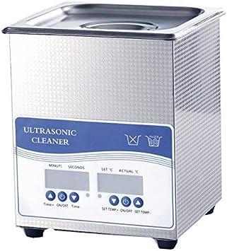 CGOLDENWALL - Limpiador ultrasónico digital con temporizador digital y generador de limpieza ultrasónico profesional, 2 L, 60 W, incluye cesta de limpieza