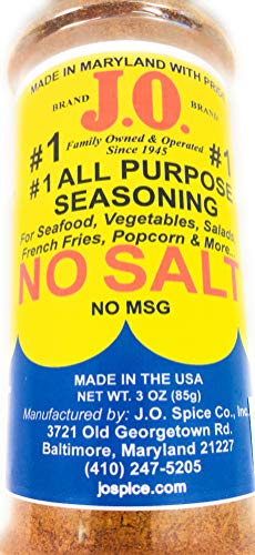 3 oz J.O. Spice Company #1 All purpose Seafood Seasoning NO SALT, Seafood, poultry, meats, popcorn, french fries