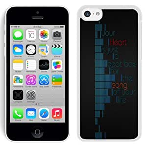 NEW Unique Custom Designed iPhone 5C Phone Case With Your Heart Is A Beat Box Song Of Life_White Phone Case