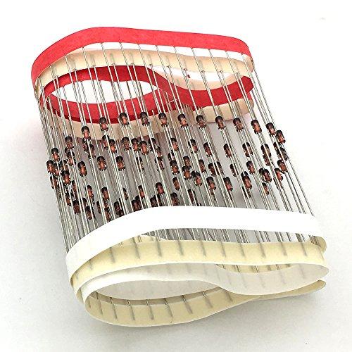 McIgIcM 1n4148,300pcs 1n4148 switching diode Standard 75V 150mA Through Hole DO-35